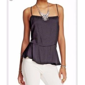 Free People Tops - Free people Polka dot black Cami sz M